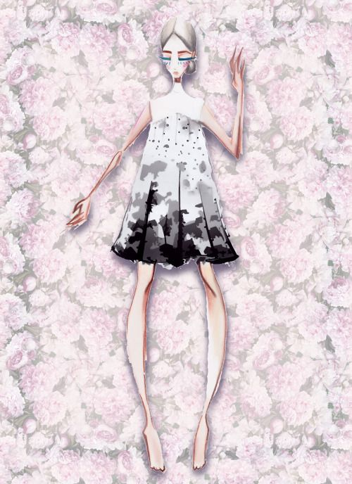 Fashion illustration by LV-Love (arctiumstudio)