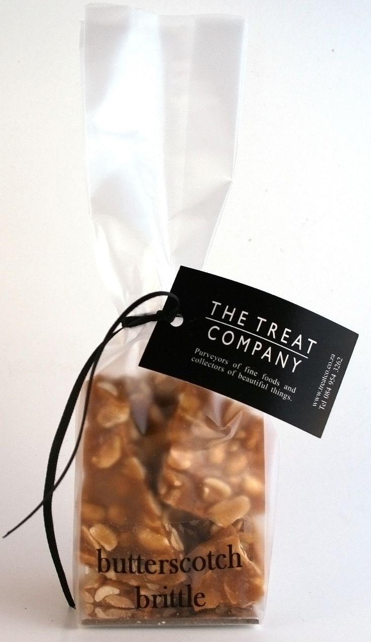 Butterscotch Peanut Brittle ribbon & tag 100g