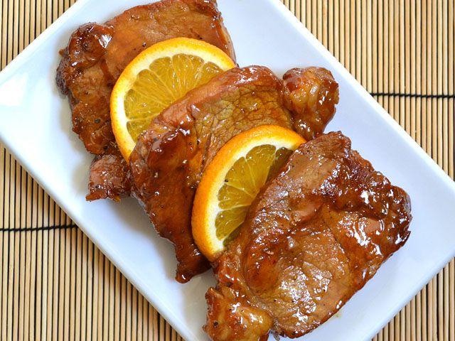 Pork chop molasses recipe