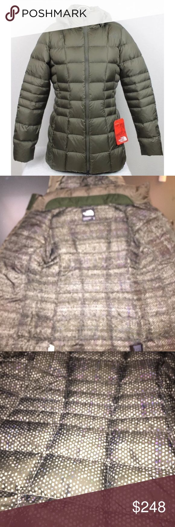 RARE NWT North Face Transit II Jacket Olive Green I purchased this item from a North Face store but it's too small and there's not a store nearby to return it. THIS JACKET IS EXTREMELY RARE! It was the LAST ONE in olive green and I haven't been able to find it anywhere else!  It's brand new with tags, not from an outlet  Looks brown in photos but it is defintely olive green!  I REPEAT.. RETAILS AT $249 plus tax  This is the 2017 version with 550 DOWN FILL and a removable hood!  ACCEPTING…