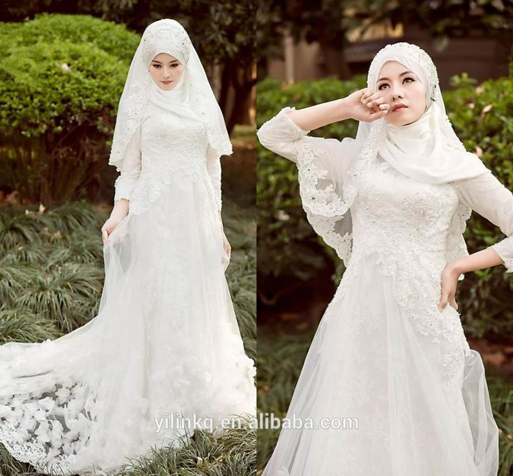 2014 Sexy Long Sleeve Arabic Hijab New Design In Dubai Buying From China Alibaba Fashion Cheap Muslim Bridal Wedding Dresses-in Wedding Dresses from Weddings & Events on Aliexpress.com | Alibaba Group