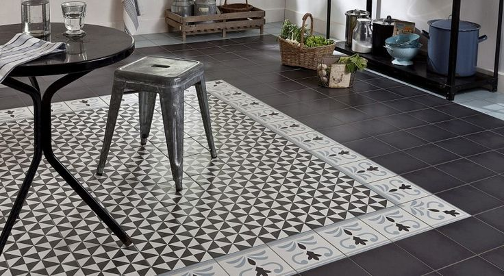 Tapis en carreaux ciment