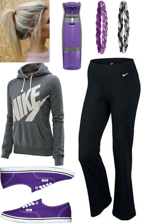 Cute lazy outfit, or athletic outfit. #teen #fashion #nike