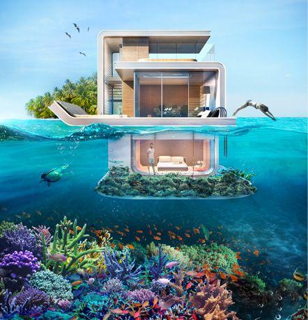 La maison à moitié sous l'eau, nouveau projet extravagant à Dubaï                                                                                                                                                                                 Plus