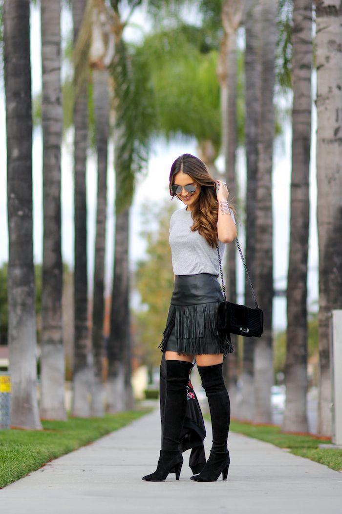 96333e3db4f Fringe Mini Skirt