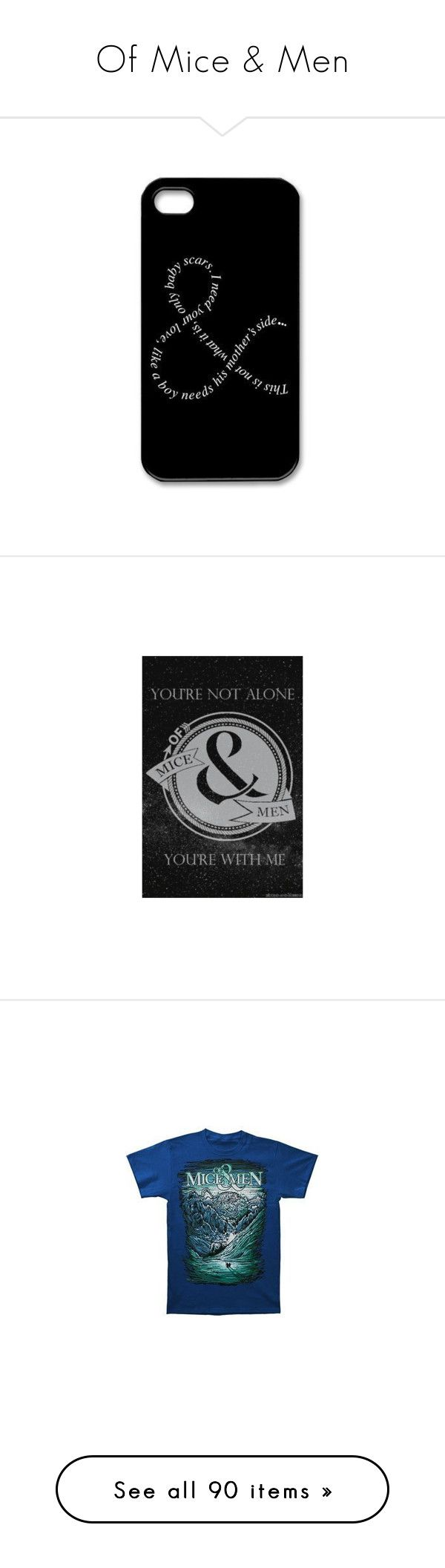 """""""Of Mice & Men"""" by two-hundred-forty-nine-point-two ❤ liked on Polyvore featuring ThisIsABandCollection, men's fashion, men's accessories, men's tech accessories, phone cases, accessories, phone, men's clothing, men's shirts and men's t-shirts"""