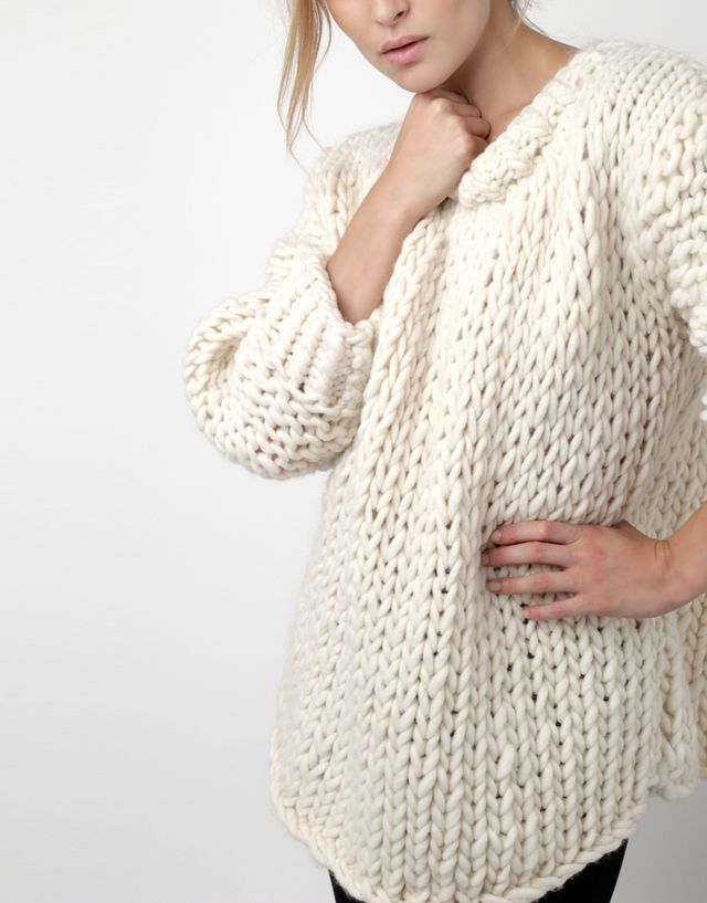 00756821377d Free oversized sweater knitting pattern.