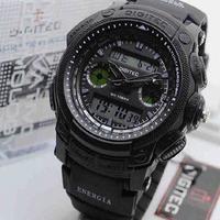 Jam tangan pria sport Digitec DG 2023T hitam Original 100%