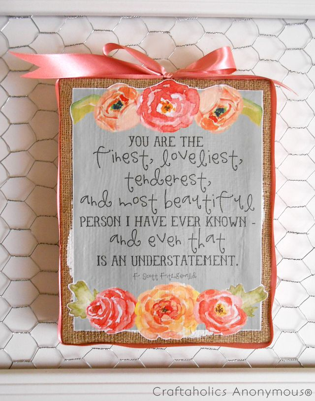Handmade Mother's Day gift idea + free printable. Quick and easy!