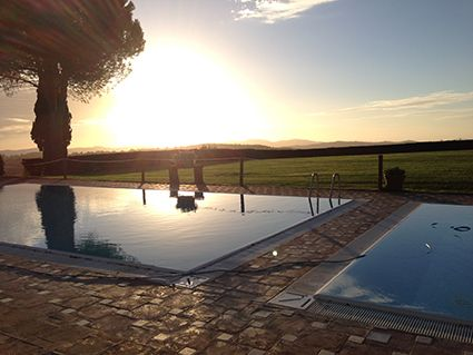An afternoon by the pool at our summer camp in Maremma.