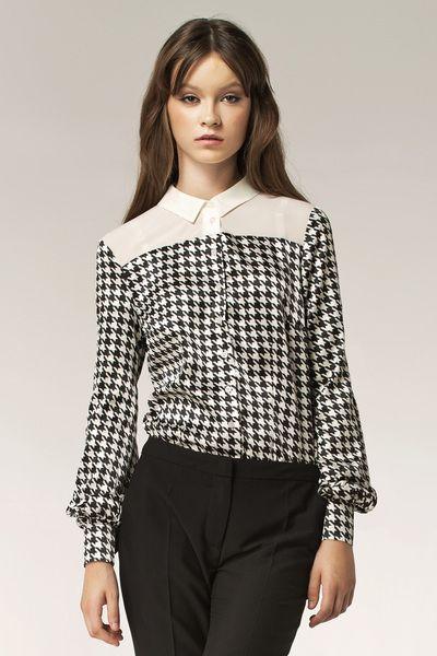 Dwukolorowa+koszula+b29+-+wzór+w+NIFE+Fashion+na+DaWanda.com