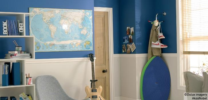 Dulux children 39 s rooms using blue with neutral toddler for Dulux childrens bedroom ideas