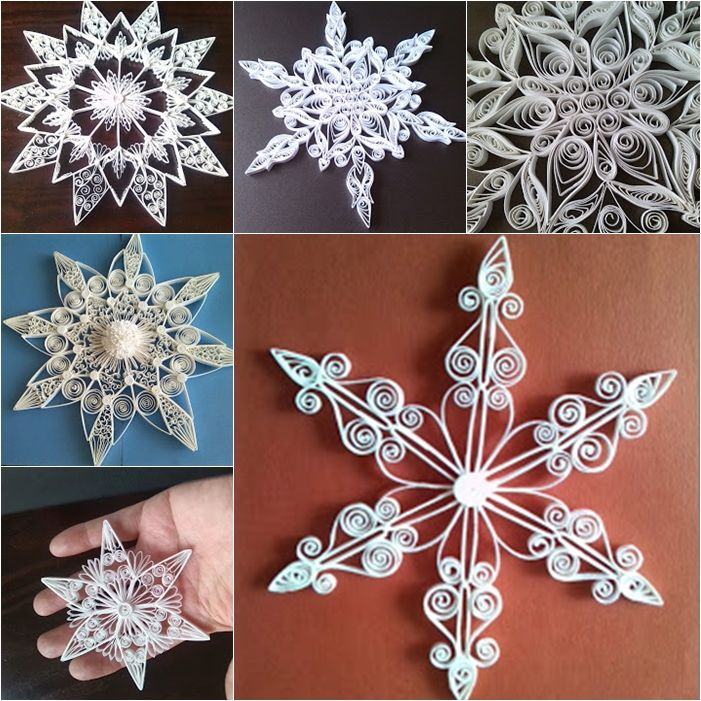 10+ quilling star ornaments ideas --> http://wonderfuldiy.com/wonderful-diy-shiny-quilled-snowflake/