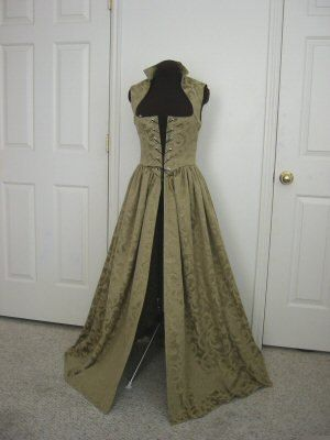 Sage Renaissance Over Gown Medieval Dress 3 sizes READY TO SHIP. $115.00, via Etsy.