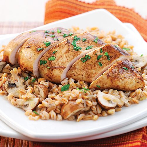 In this rice-cooker meal, your marinated chicken breasts will slowly steam on top of a bed of wonderfully chewy farro, a regularly slow-cooking grain perfect for the rice cooker.