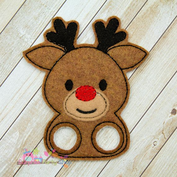 Rudolph / Reindeer Finger Puppet Imaginative by SurprisePartyShop