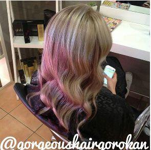#love #hair #highlights #gorgeoushair #hairofthe day #beautiful #fashion #followme @gorgeoushairgo #longhair #picoftheday #violet #waves #blonde #centralcoastsalon #hairideas