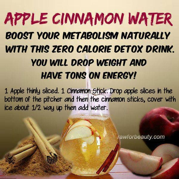 apple cinnamon water. Don't know whether this boosts weight loss or not but I like the flavour. Via the Whoot