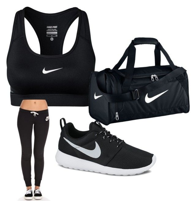 """""""nike workout gear"""" by suaveroyalty ❤ liked on Polyvore featuring NIKE"""