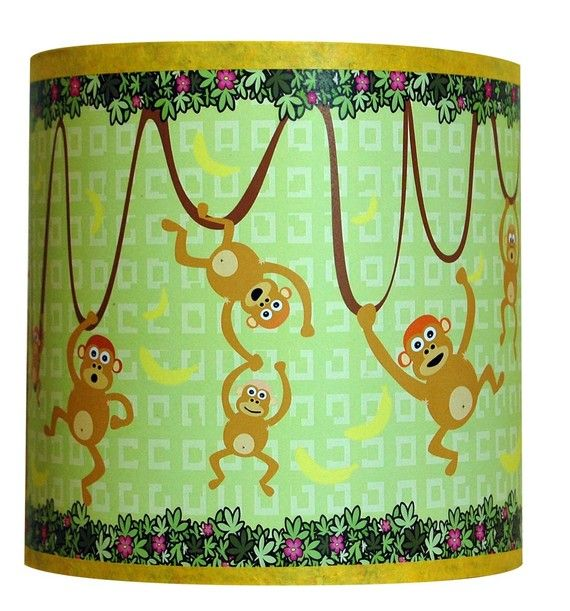 Luminaire enfant applique murale les singes dans la for Decoration murale jungle