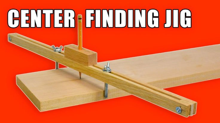 Homemade Center Finder Jig / Centre Marking Jig