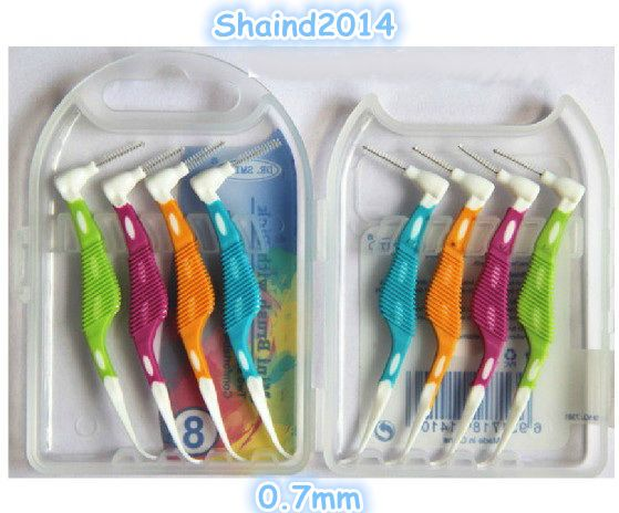 8 Pieces Dental Oral Care Interdental Floss Brush Tooth Pick 0.7mm #Shaind2014