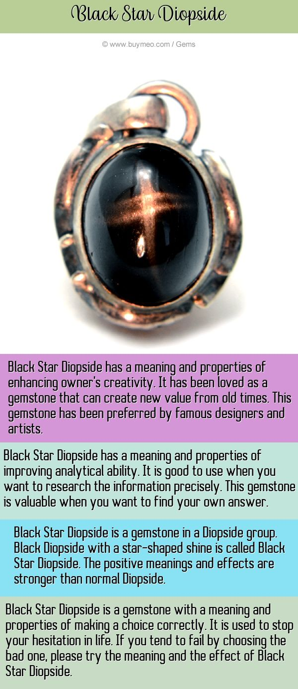 Black Star Diopside Meaning, Energy, Powers Buymeo