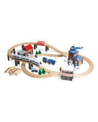 Wooden Railway Set - ALDI UK