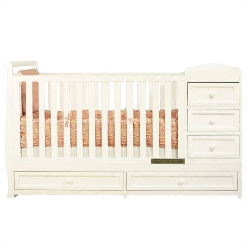 Lovely AFG Daphne I 2 In 1 Convertible Crib And Changer Combo   662. Crib With Changing  TableBaby ...