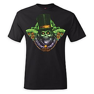 Celebrate the spirit of one of Disney's most popular theme park attractions  with this cool Haunted Mansion t-shirt featuring glow-in-the-dark art of  the ...