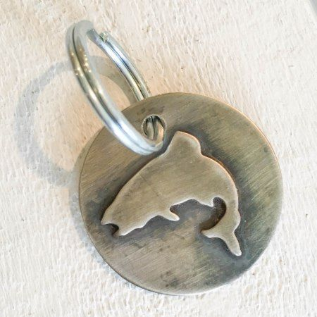 Jumping Trout Nickel Silver Keychain - tap, personalize, buy right now!