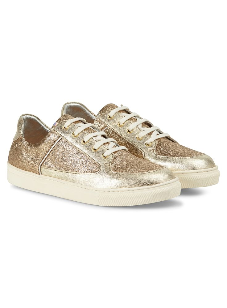 All that glitter is trainer gold with these dress up and shine trainers by the extraordinary talent of Rose Rankin.