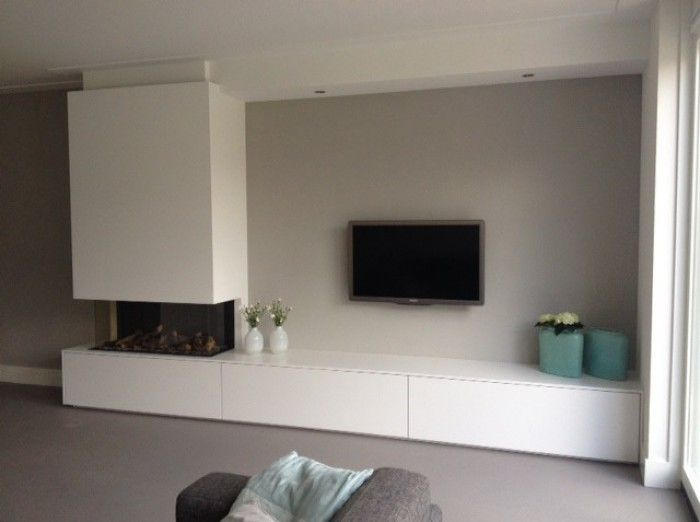 25 beste idee n over tv open haard op pinterest grijze open haard schoorsteenmantel en open. Black Bedroom Furniture Sets. Home Design Ideas