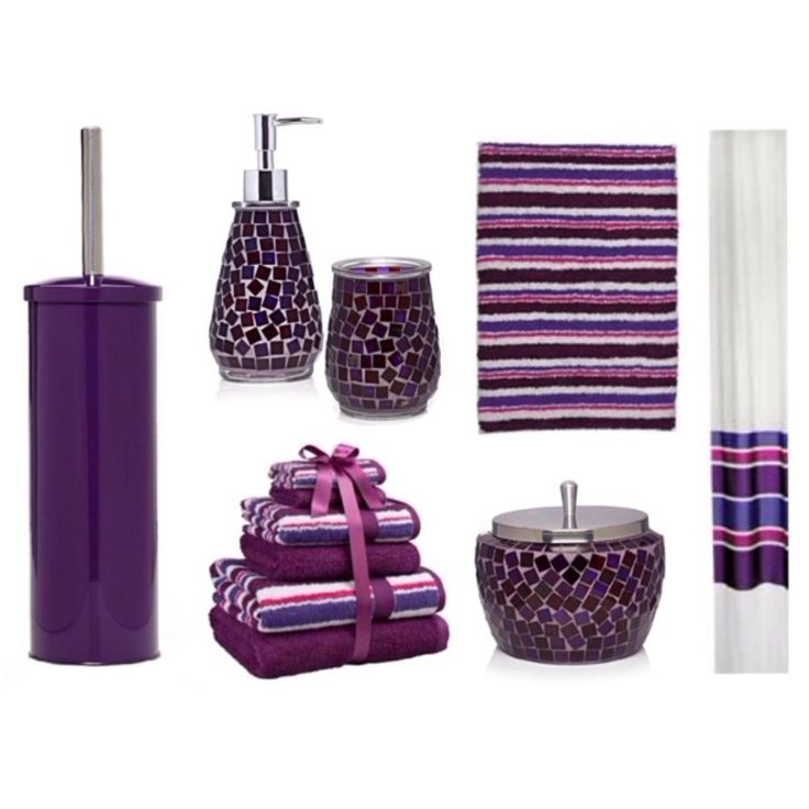 Let Purple Bathroom Accessories Glorify Your Bath Decors From Plum Colored