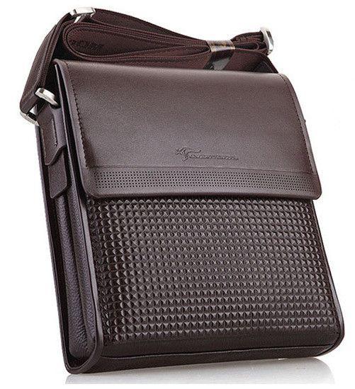 new 2014 male kangaroo bag Men's single shoulder bag genuine leather business inclined shoulder bag, briefcase bag,Travel bag