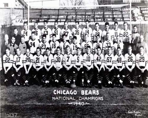 1940 ~ Chicago Bears (vs. Washington Redskins) ~ http://en.wikipedia.org/wiki/1940_NFL_Championship_Game