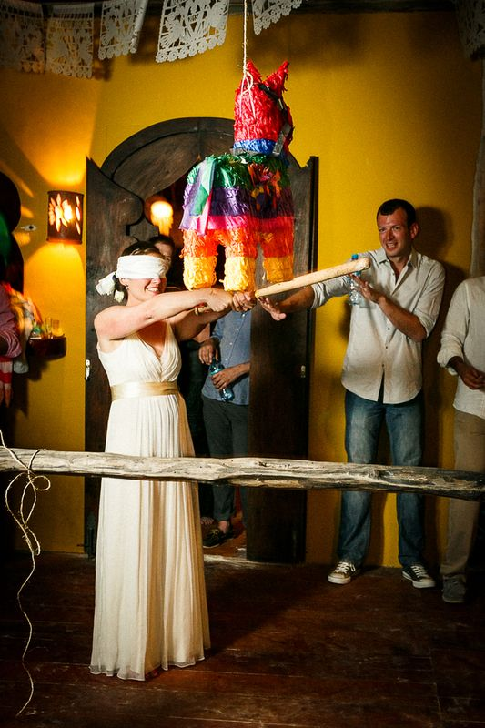 OH GOSH a piñata for the kids at the wedding. I'd love it! 5 Unique Wedding Entertainment Ideas - Project Wedding