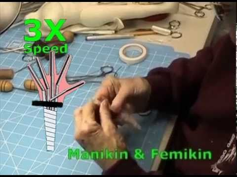 This video is all of Lesson 5: Making Arm and Hands from Mimi's Mannequins & Pattern Draping. It includes turning the fingers, making finger turning tools, w...