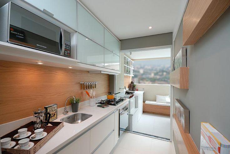 Cozinha Corredor de Apartamento Pequeno Decorada - Fotos 7