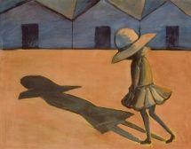The Shadow, by Charles Blackman (1953). Tempera on cardboard. Heide Museum of Modern Art.