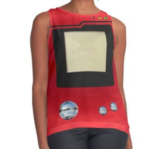red retro pokedex Contrast Tanks #ContrastTanks #tee #tshirt #clothing #gameboy #gamecube #gamecontroller #nintendo #sega #playstation #ps #ps1 #ps2 #ps3 #ps4 #retro #vintage #Pokemon #pokeball #pikachu #gengar #pokedex #monster #duelmonster #cartoon