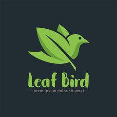 Leaf Bird logo design template, easy to customize. Leaf Bird