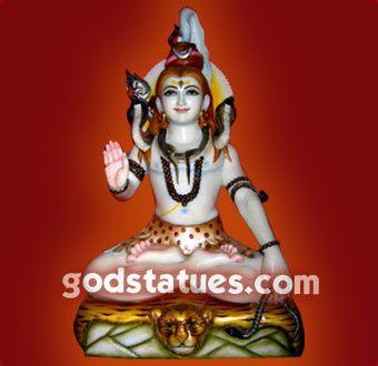 Lord Shiva Hindu God. One of the trinity of Brahma, Vishnu and Mahesh.  Supreme Destroyer. #hindu #god #statue #handicraft