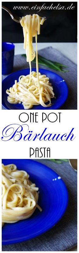 Einfaches Rezept für One Pot Pasta mit frischem Bärlauch - ein super Anfängerrezept und alle, die mal mit Bärlauch kochen wollen und alle Pasta Liebhaber!