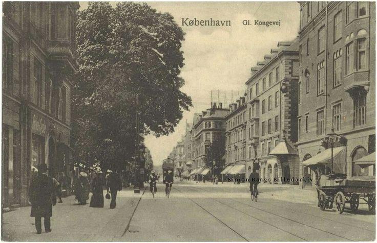 Gl. Kongevej 91C til venstre, 1915. Postkort fra Budtz Kunstforlag