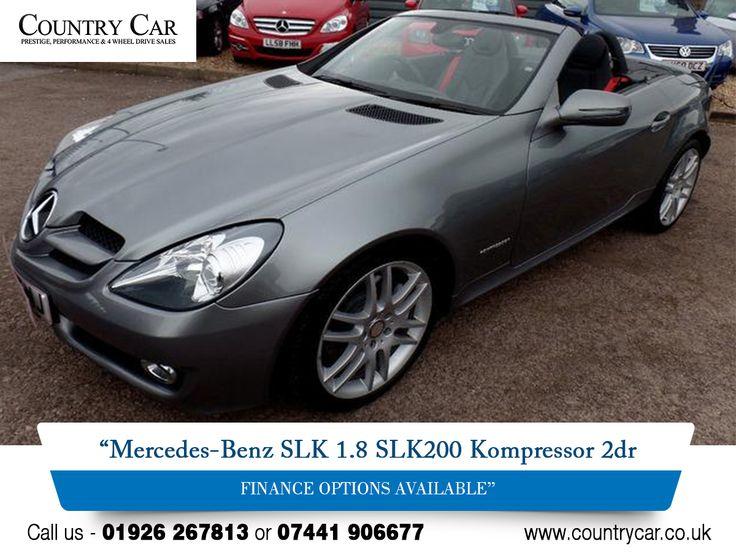 Mercedes-Benz SLK 1.8 SLK200 Kompressor 2dr FINANCE OPTIONS AVAILABLE. http://www.countrycar.co.uk/