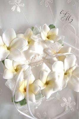 やっぱりプルメリア♡夏の結婚式に♡ハワイアンなリングピローまとめ一覧♡