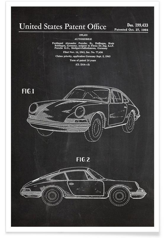 Vintage Car als Premium Poster von Stanley Print House | JUNIQE