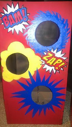 Super Hero Bean Bag Toss Board Google Search I Want A