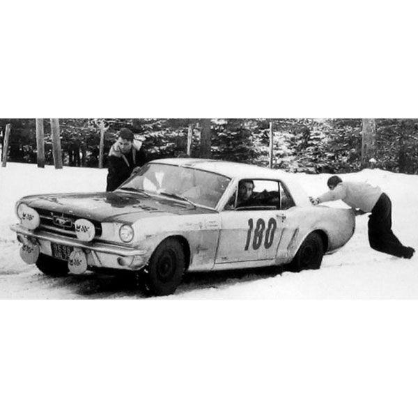 IXO 1:43 Ford Mustang - 1965 Monte Carlo Rally - #180 R. Geminiani Diecast Model Rally